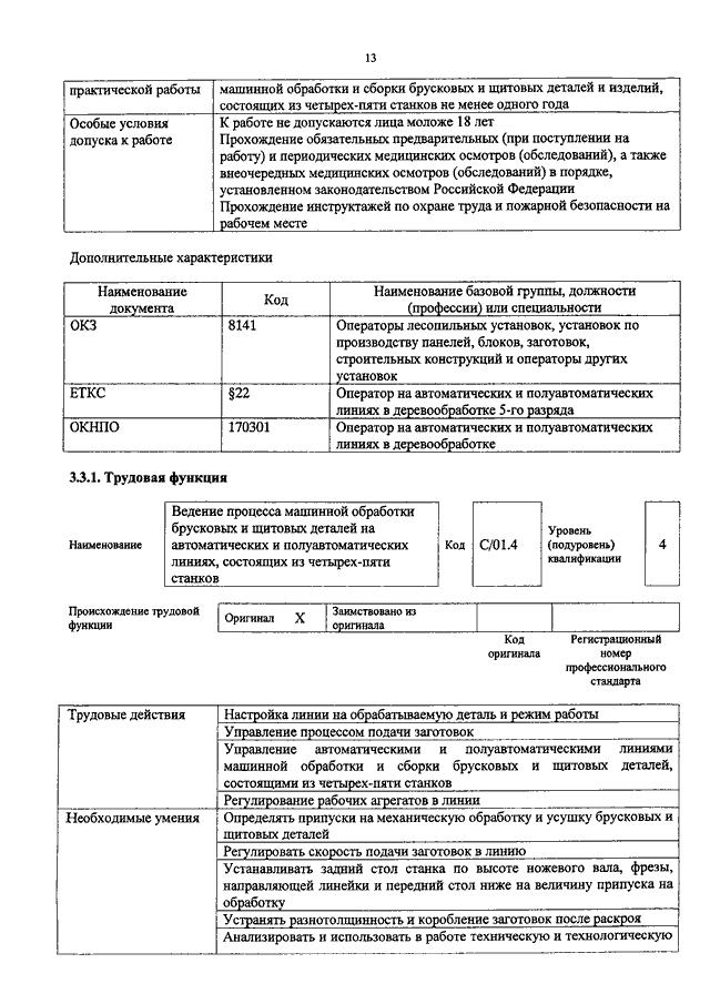 Должностная инструкция оператора сушильных установок