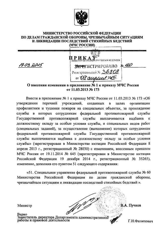 Мчс россии 645 приказ.