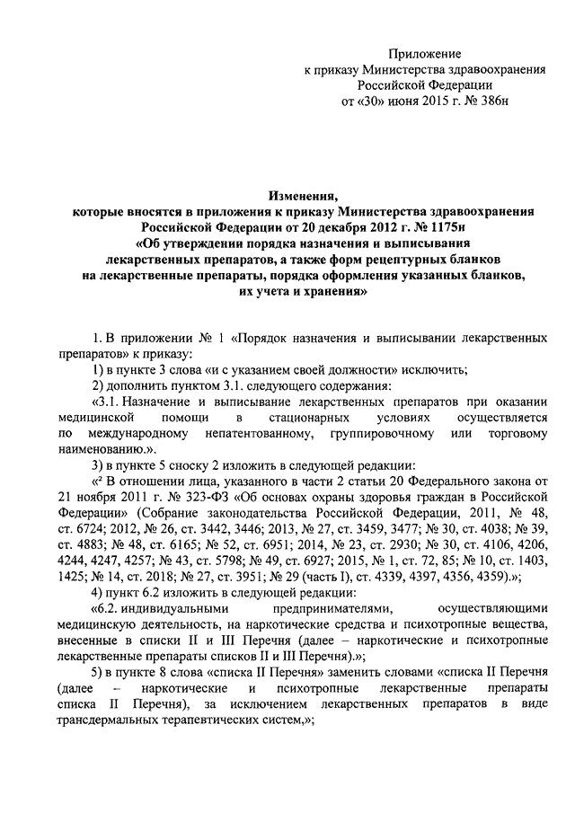 Приказ минздрава 1175н от 20. 12. 2012 с изменениями.