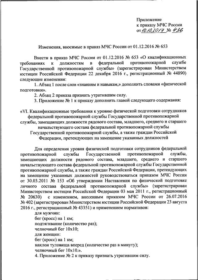 Изменения в 153 приказ мчс.