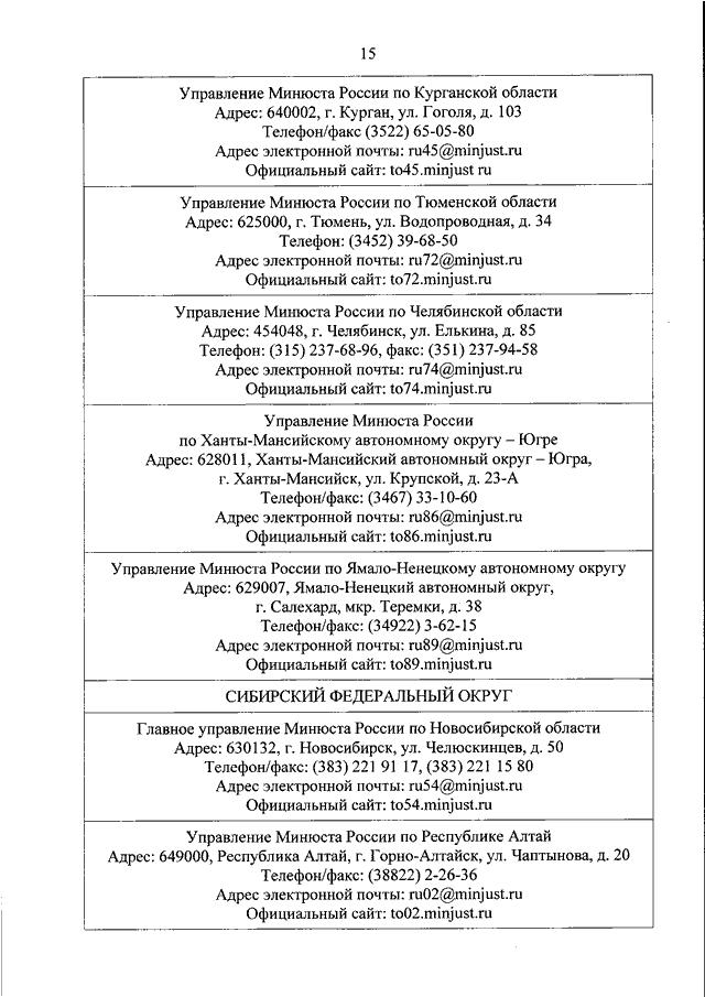 юстиция некоммерческие организации новосибирска