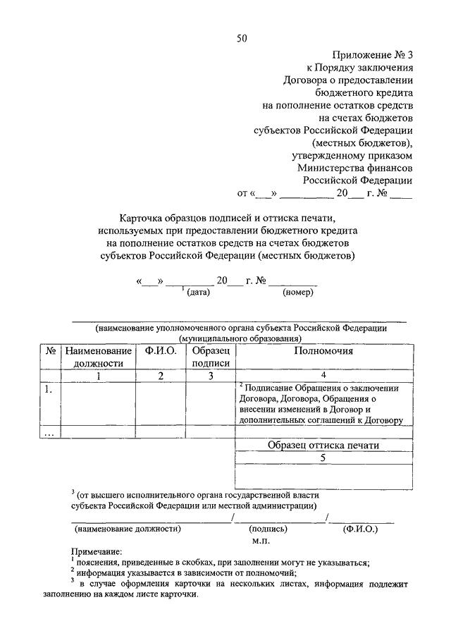 Форма перечня лиц, уполномоченных на обмен информацией (документами) во исполнение Договора о предоставлении бюджетного кредита на.